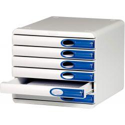 Cassettiera Allura 6 cassetti blu