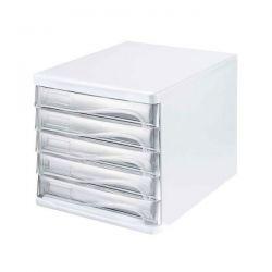 Cassettiera Multicolor   Helit bianco 5 cassetti