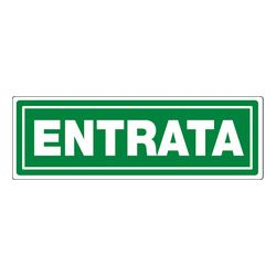Segnaletica da terra ENTRATA 40x20cm verde
